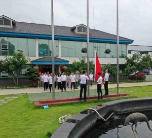 庆七一升旗仪式