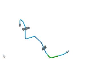 右前轮制动管1(4.76PVF)