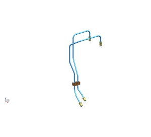 北海荆大汽配前制动管组件(4.76PVF)